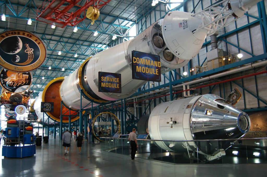 Sala del Saturno V en el Kennedy Space Center